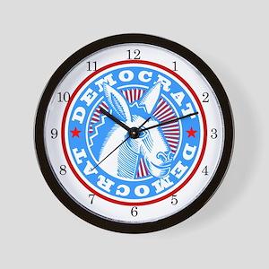 <b>SERIES G:</b> Democrat Donkey Wall Clock
