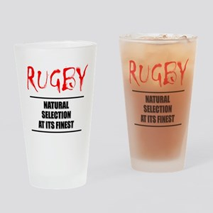 Rugby Natural Selection Drinking Glass