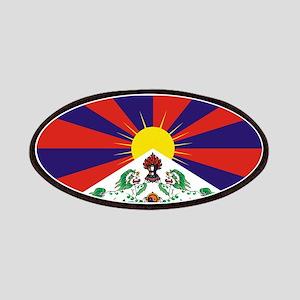 Tibetan Snow Lion Flag Patches