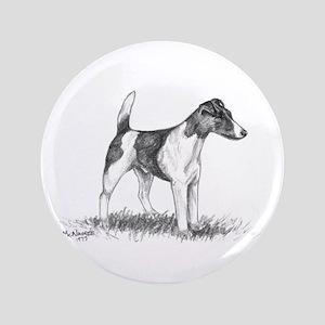 "Smooth Fox Terrier 3.5"" Button"