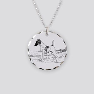 Smooth Fox Terrier Necklace Circle Charm