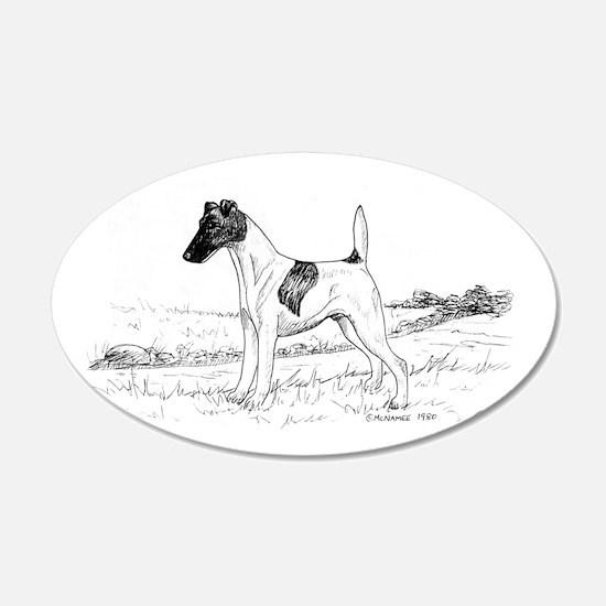 Smooth Fox Terrier 22x14 Oval Wall Peel