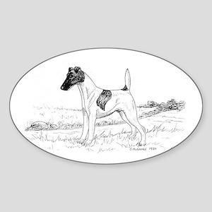 Smooth Fox Terrier Sticker (Oval)
