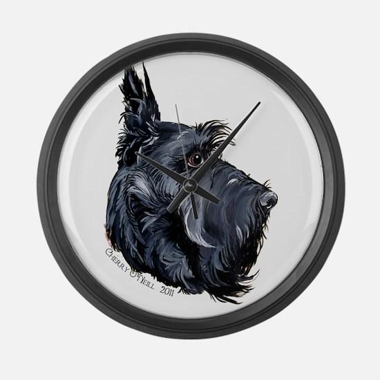 Scottish Terrier Alert! Large Wall Clock