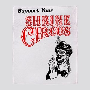 Shrine Circus Clown Throw Blanket