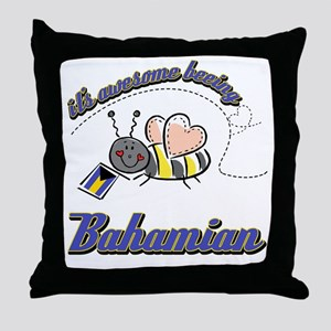 Awesome Being Bahamian Throw Pillow