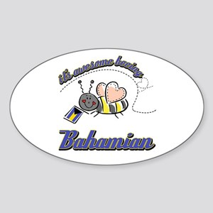 Awesome Being Bahamian Sticker (Oval)