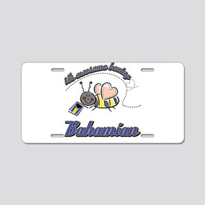 Awesome Being Bahamian Aluminum License Plate