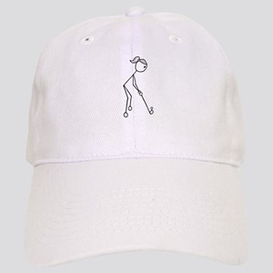 Golf Girl Black No Words Cap