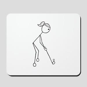 Golf Girl Black No Words Mousepad