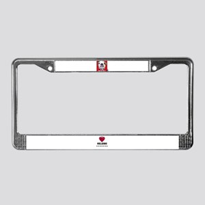 BULL DOG (CANDY CANE  XMAS LOOK) License Plate Fr