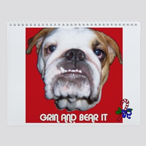 BULL DOG (CANDY CANE  XMAS LOOK) Wall Calendar