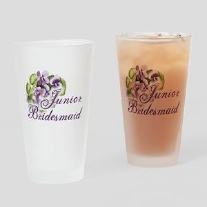 Floral Junior Bridesmaid Pint Glass