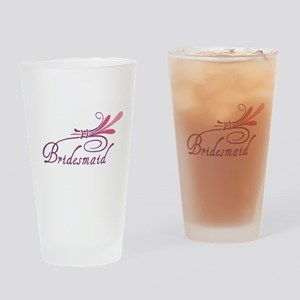 Pink/Purple Deco Bridesma Pint Glass