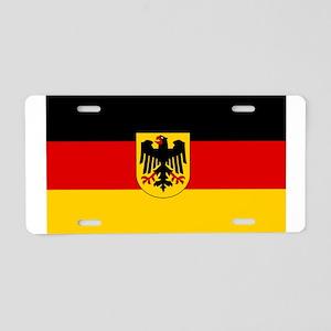 German Government Flag Aluminum License Plate