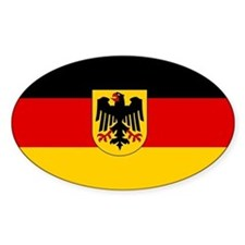 German Government Flag Sticker (Oval)