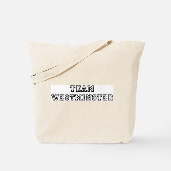 Team Westminster Tote Bag