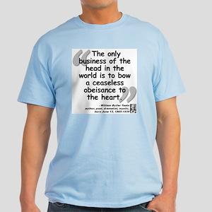 Yeats Heart Quote Light T-Shirt