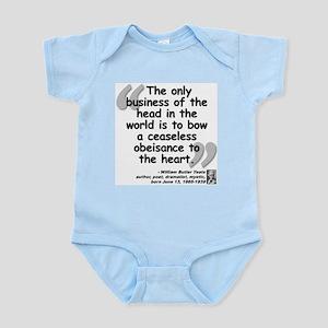 Yeats Heart Quote Infant Bodysuit