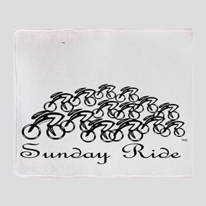 Sunday ride Throw Blanket