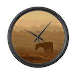 Pony large wall clock