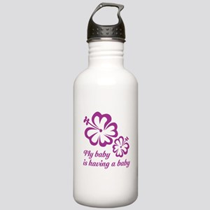 My baby is having a baby Stainless Water Bottle 1.