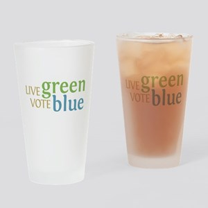 Live Green Vote Blue Pint Glass