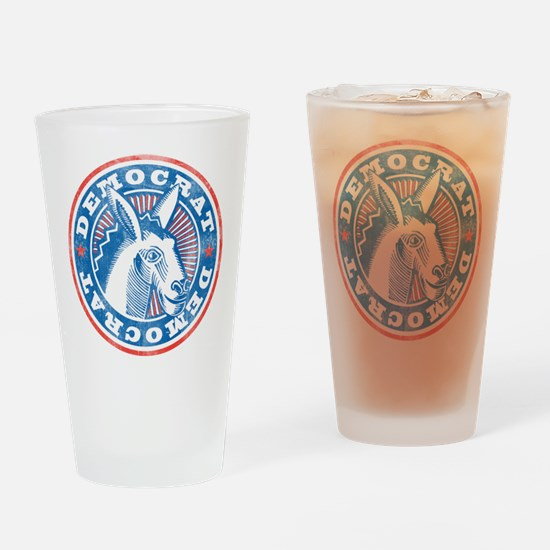 Vintage Democrat Pint Glass