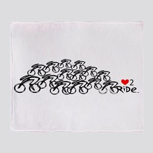 love 2 ride in a bunch Throw Blanket