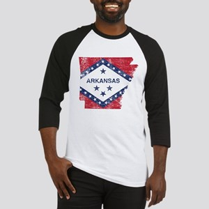 Arkansas Flag Map Baseball Jersey