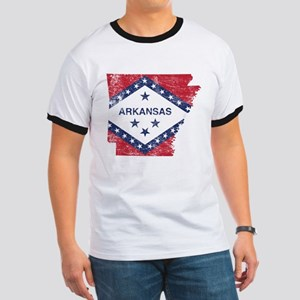 Arkansas Flag Map Ringer T