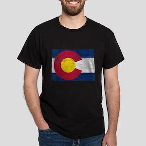 Colorado Flag Map Dark T-Shirt