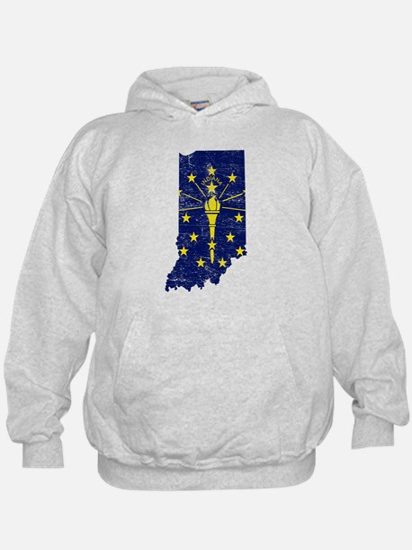 Indiana Flag Map Hoodie