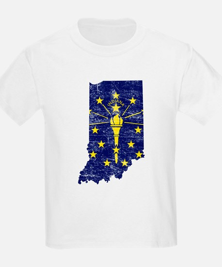 Indiana Flag Map T-Shirt
