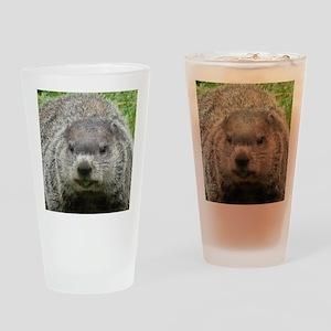 Groundhog Eating Drinking Glass