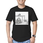 Randy's Nerve (no text) Men's Fitted T-Shirt (dark