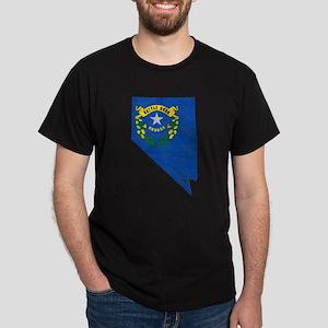 Nevada Flag Map Dark T-Shirt