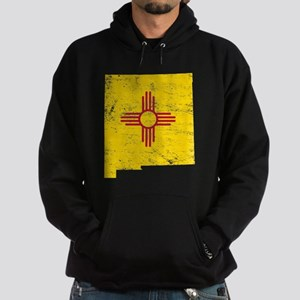 New Mexico Flag Map Hoodie (dark)