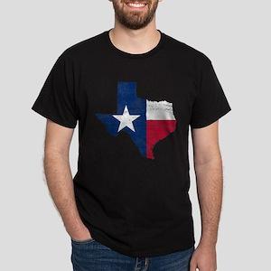Texas Flag Map Dark T-Shirt