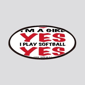 Girls Softball Patches