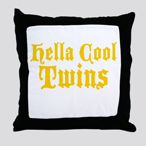 hella Cool Twins Throw Pillow