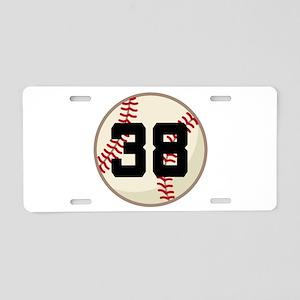 Baseball Player Number 38 Team Aluminum License Pl