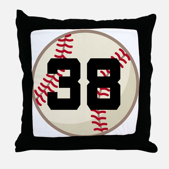Baseball Player Number 38 Team Throw Pillow