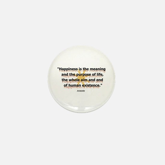 Happiness by Aristotle Mini Button