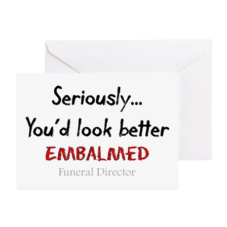 Funeral Director/Mortician Greeting Cards (Pk of 2