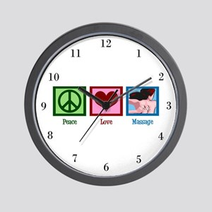 Peace Love Massage Wall Clock