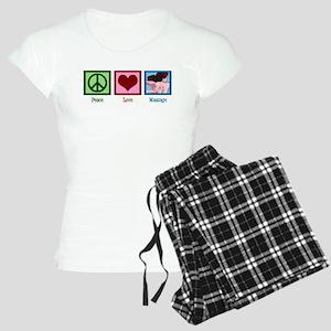 Peace Love Massage Women's Light Pajamas