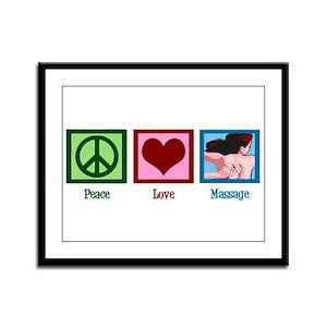 Peace Love Massage Framed Panel Print
