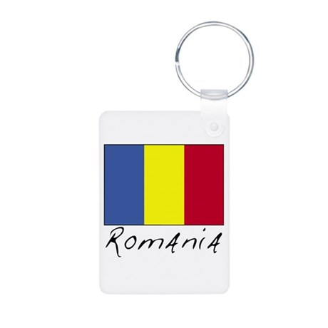 Romania (Flag, International) Aluminum Photo Keych
