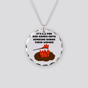 Someone Burns Wiener Necklace Circle Charm